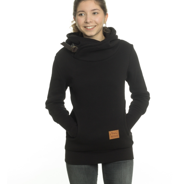 Buckle Hoody, Girls - Black